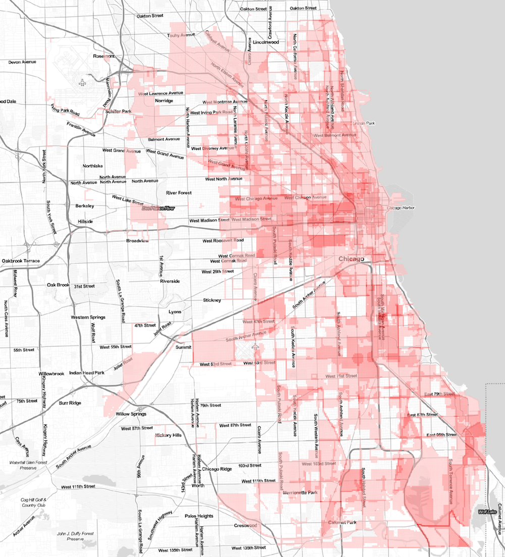 Map shows where the most financial & development incentives in Cook County are