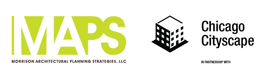 Logos of Chicago Cityscape and MAP Strategies