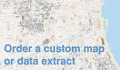 Image of a map overlaid with the text Order a custom map