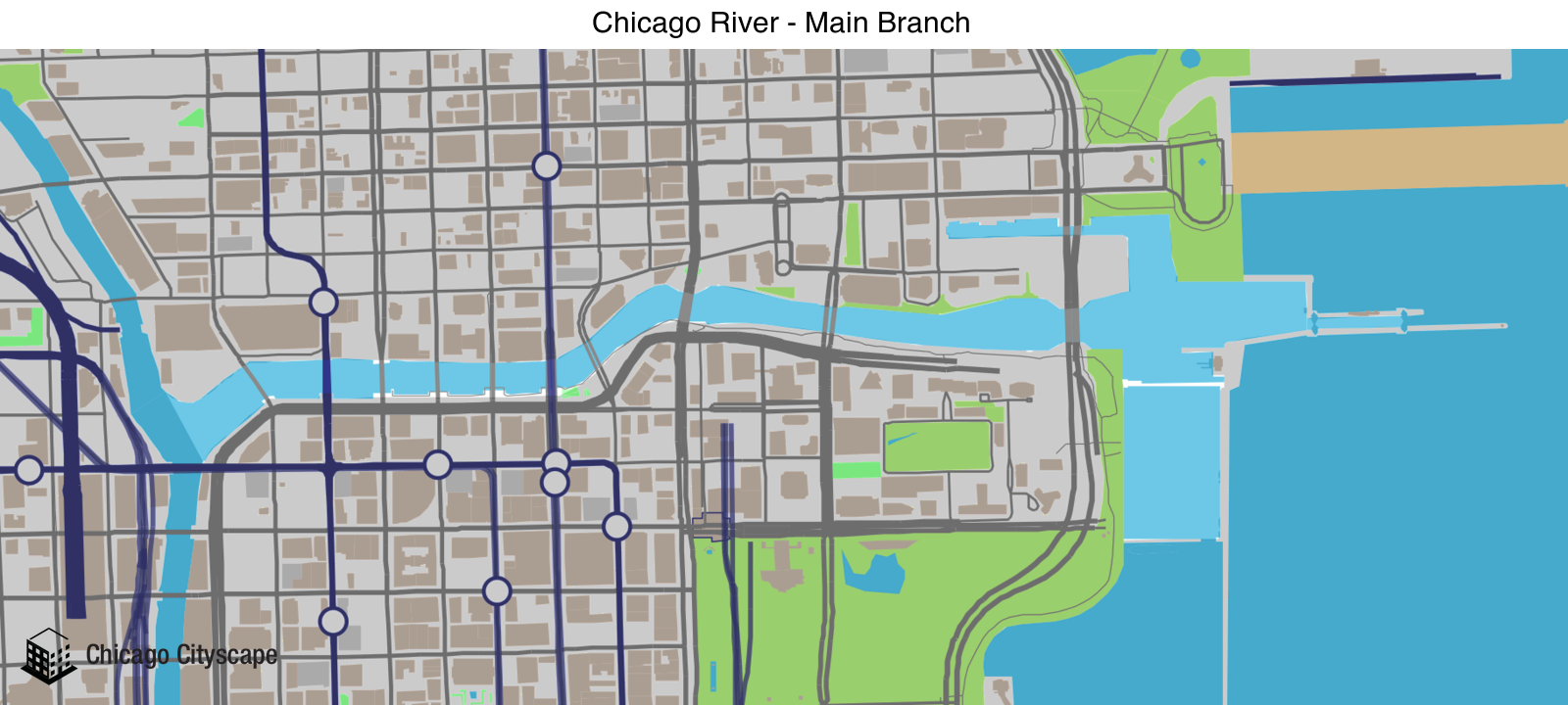 River - Map of building projects, properties, and businesses within ...
