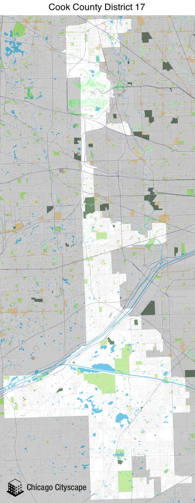 Chicago Cityscape - Map of building projects, properties
