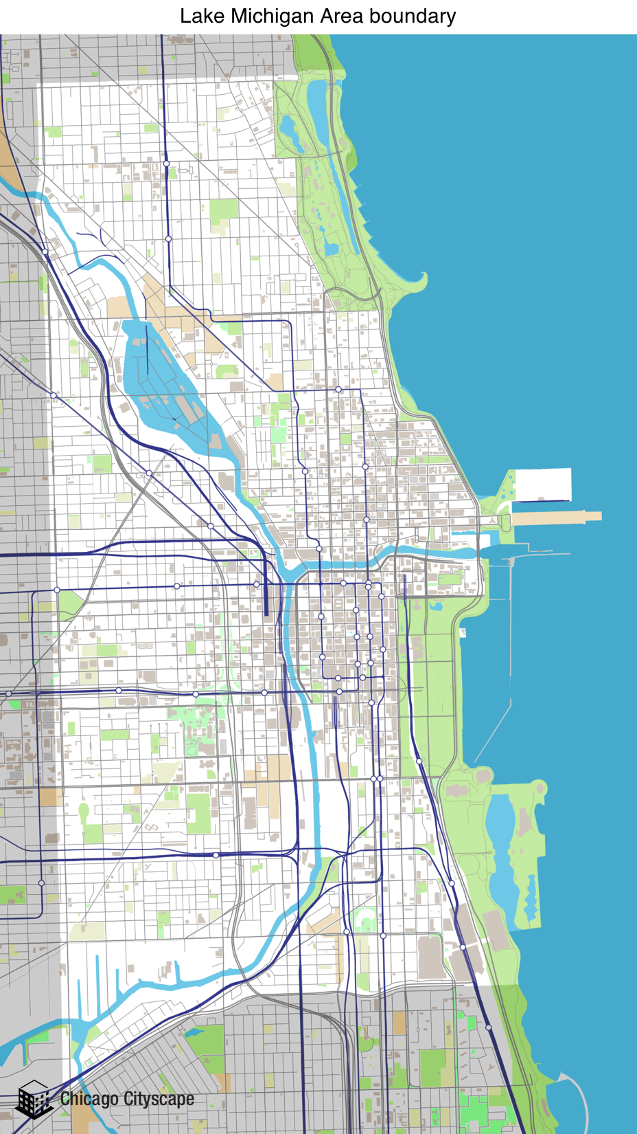 Chicago Cityscape Map Of Building Projects Properties And