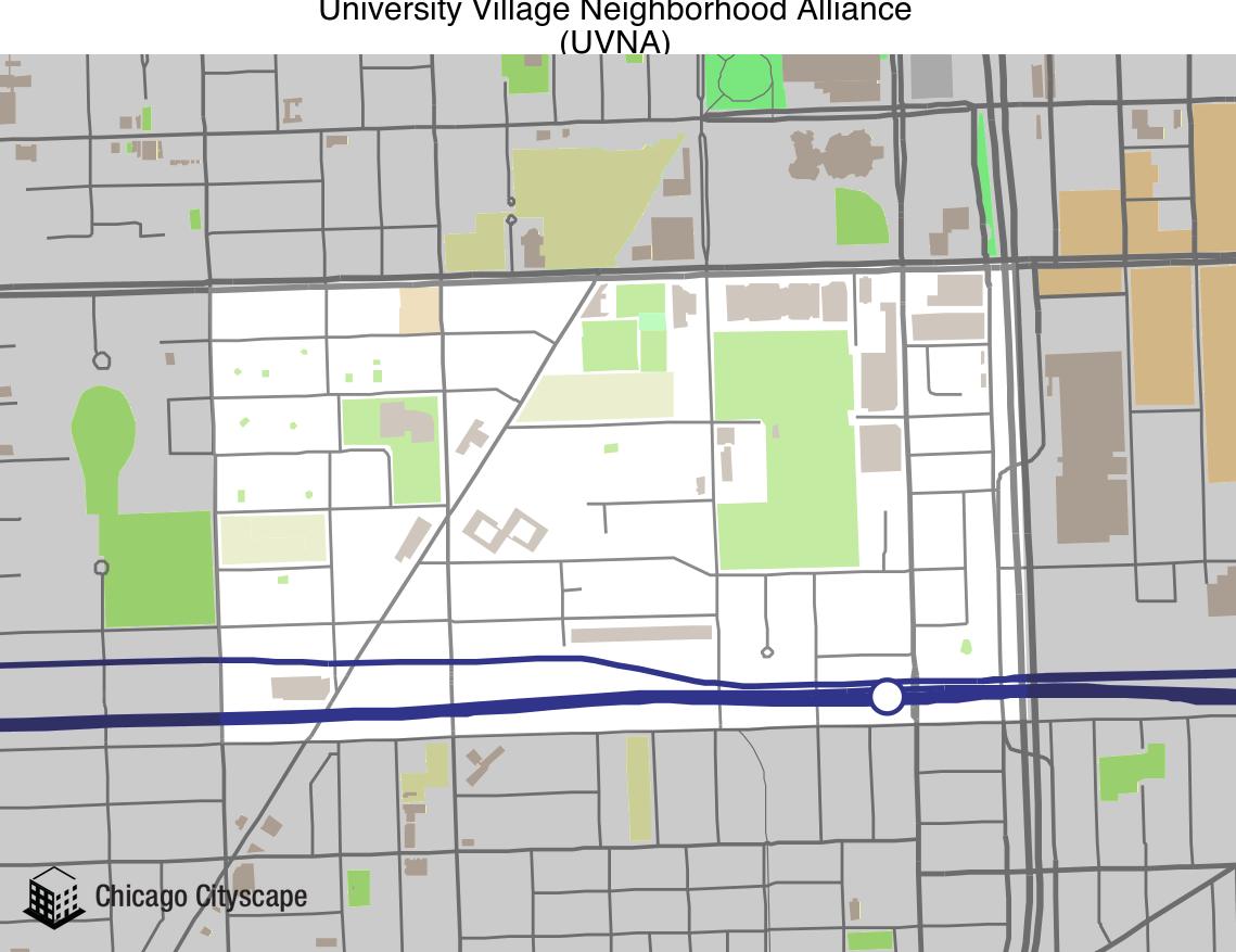 University Village Map Neighborhood organization   Map of building projects, properties