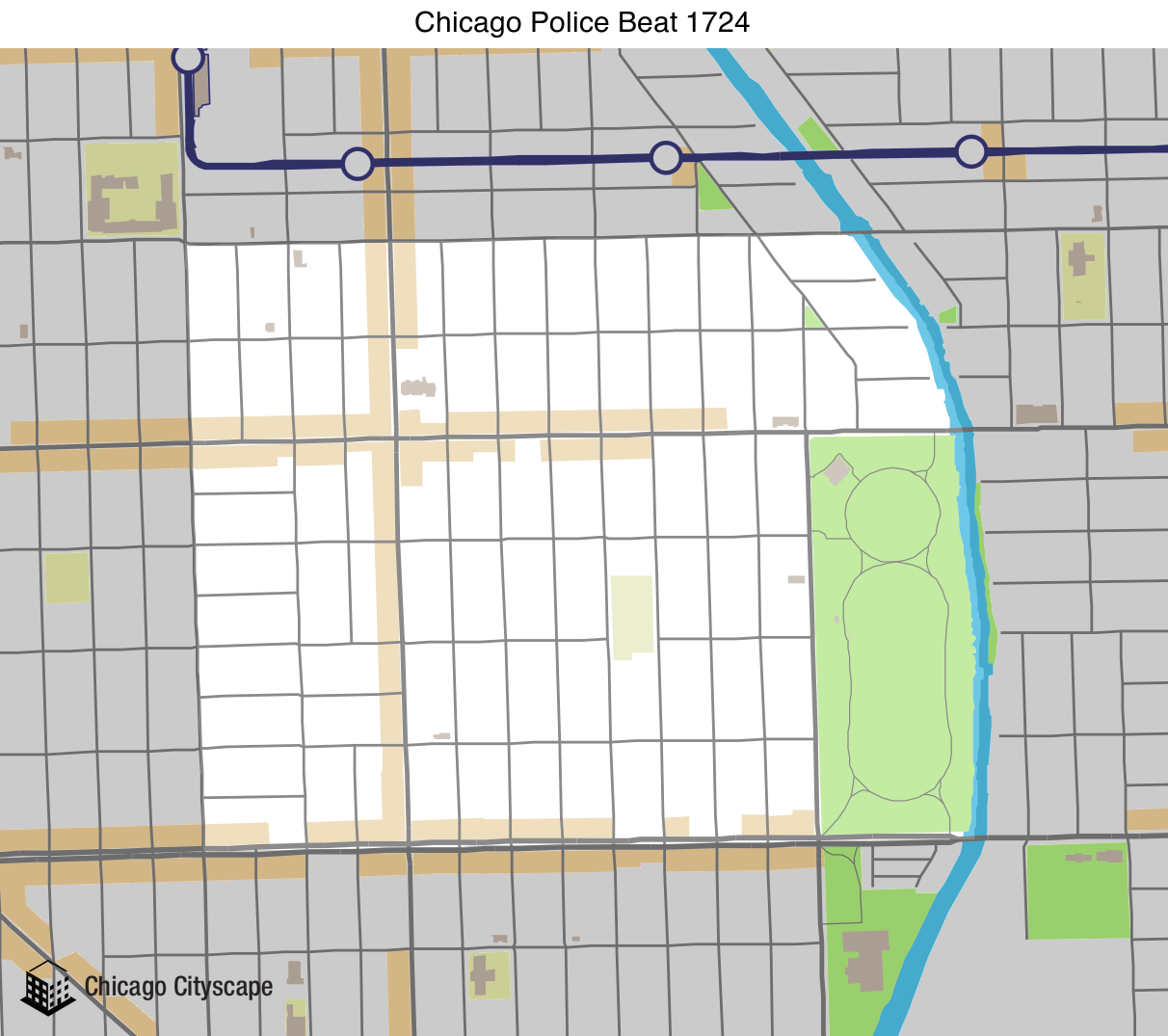map of district 17 beat 1724 chicago police beat designed by chicago cityscape