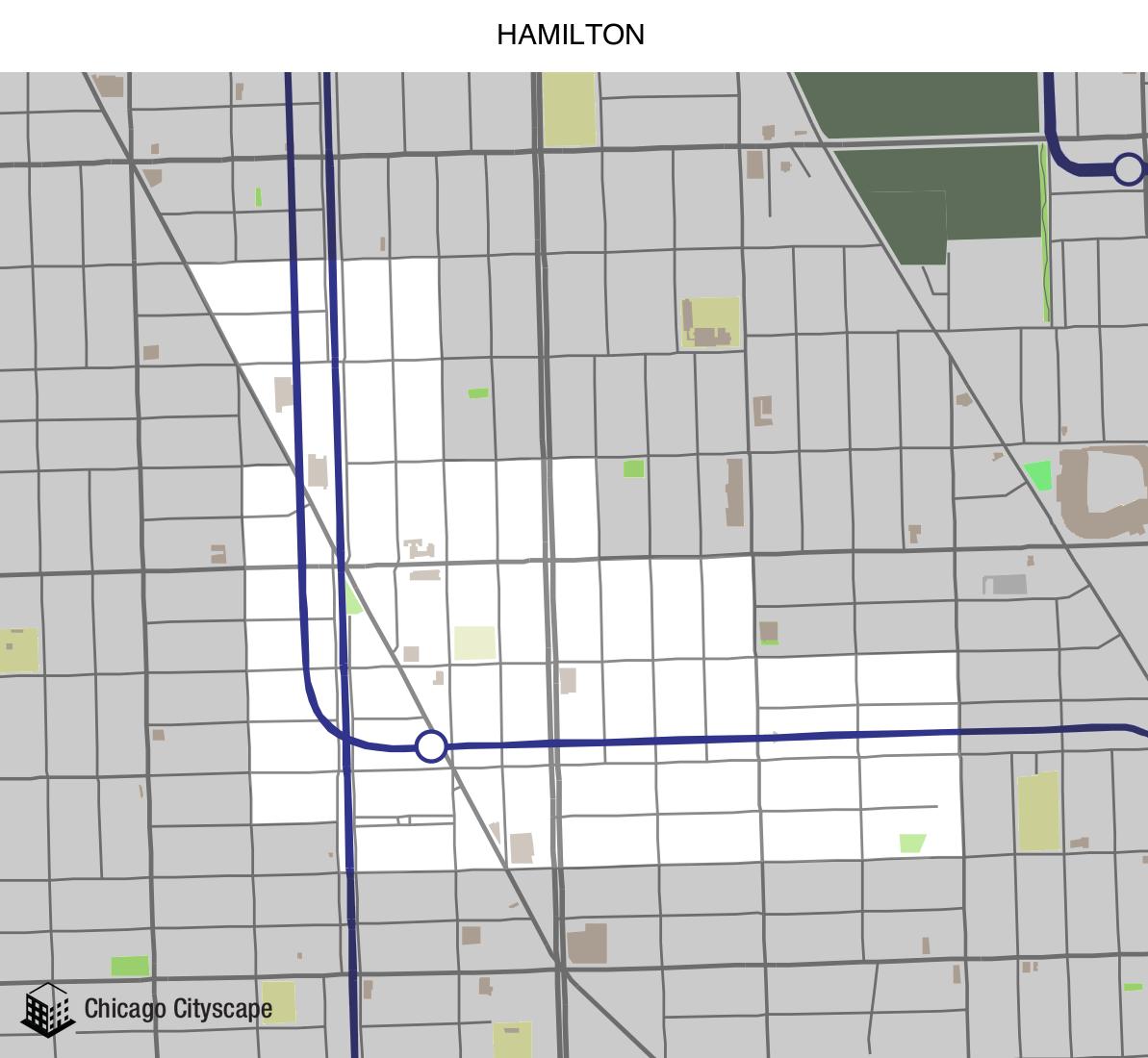 Map Of Hamilton County, Map Of Hamilton Designed By Chicago Cityscape, Map Of Hamilton County
