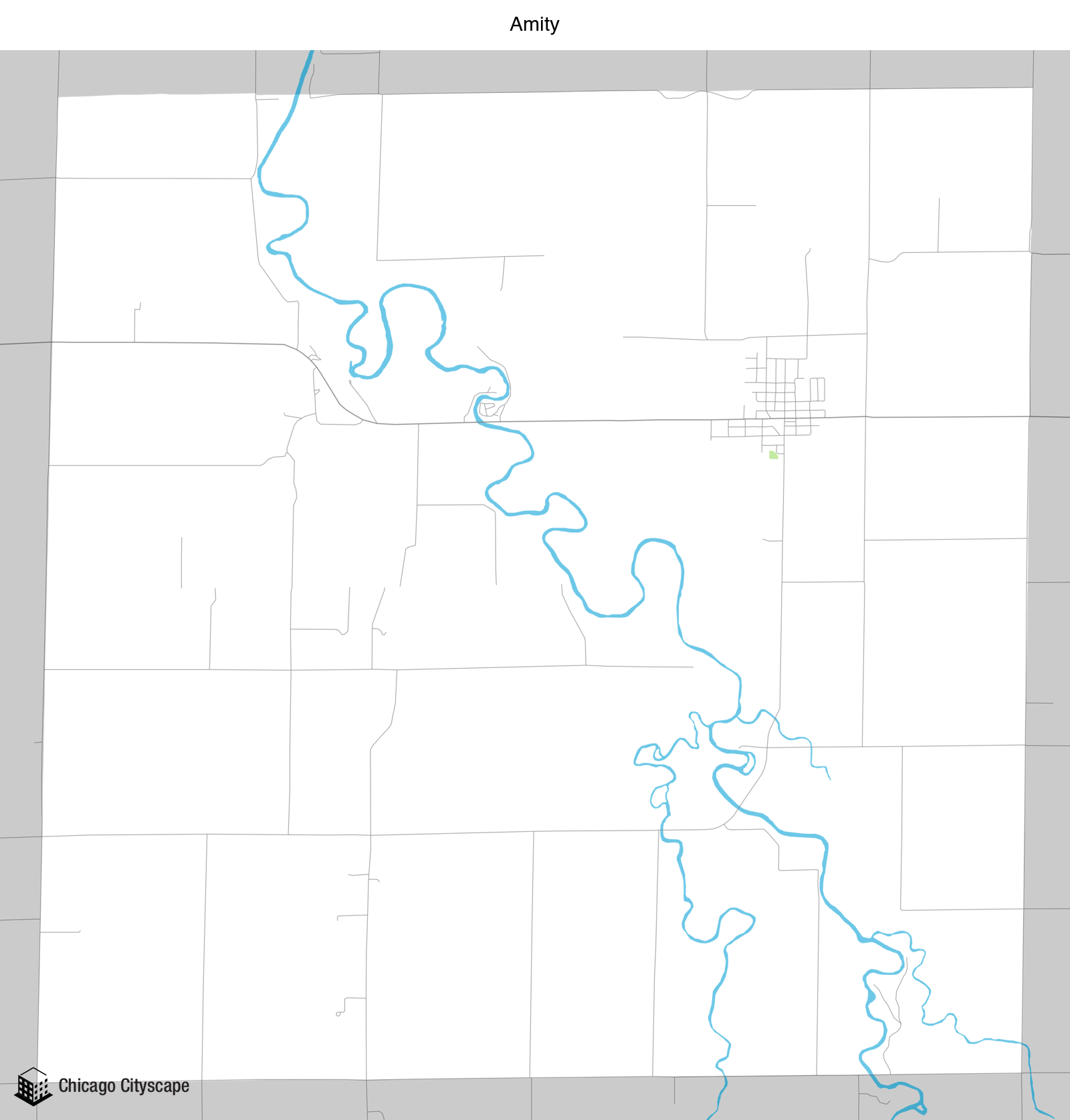 Map Of Livingston County, Map Of Amity Designed By Chicago Cityscape, Map Of Livingston County