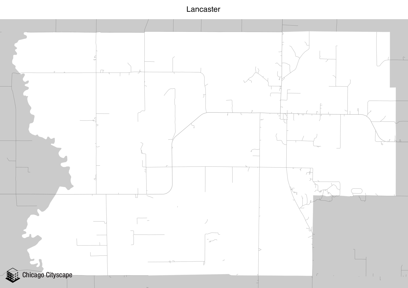 Map Of Lancaster County Sc, Map Of Lancaster Designed By Chicago Cityscape, Map Of Lancaster County Sc