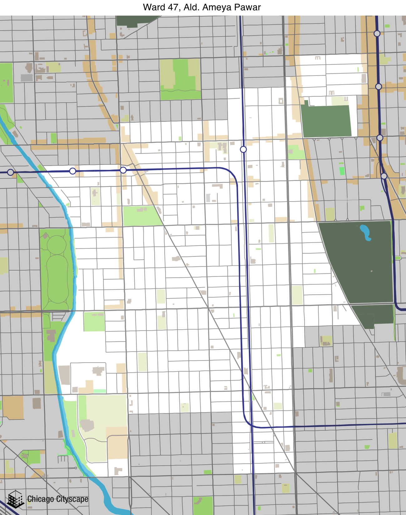 3rd Ward Chicago Map.Chicago Cityscape Map Of Building Projects Properties And