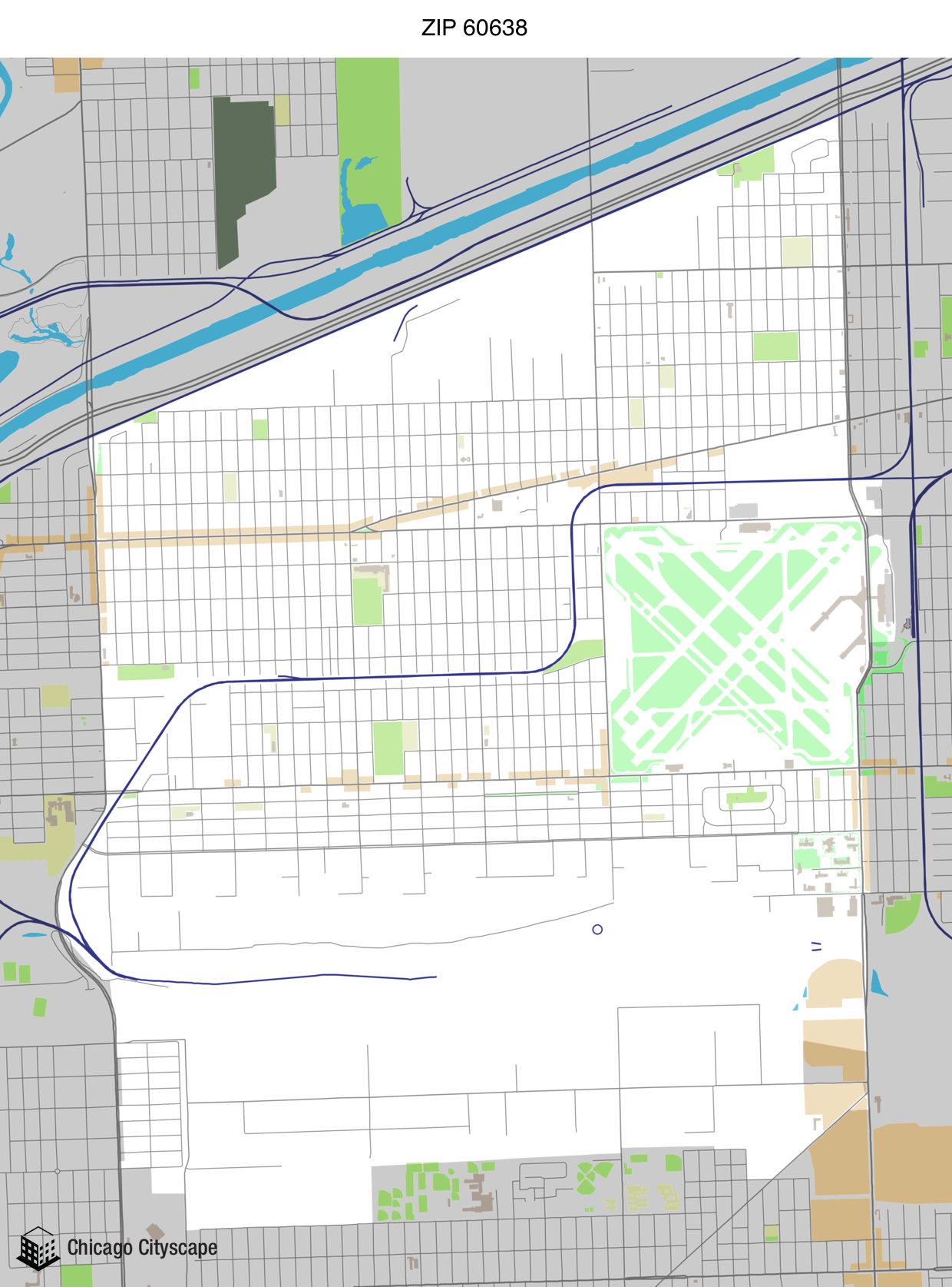 Map Of Building Projects Properties And Businesses In ZIP Code - Chicago zip code map