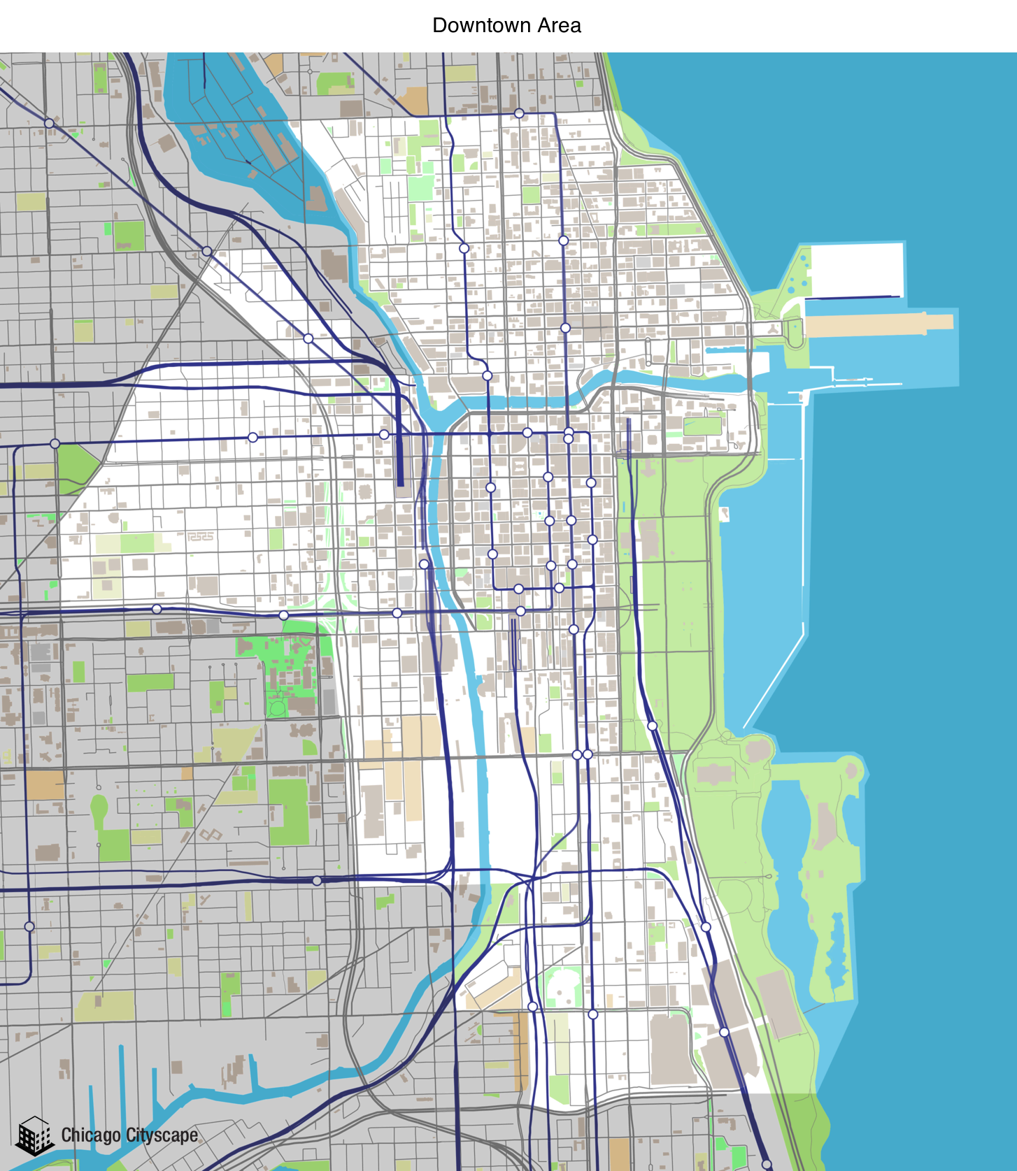 Chicago Cityscape - Map of building projects, properties, and ... on