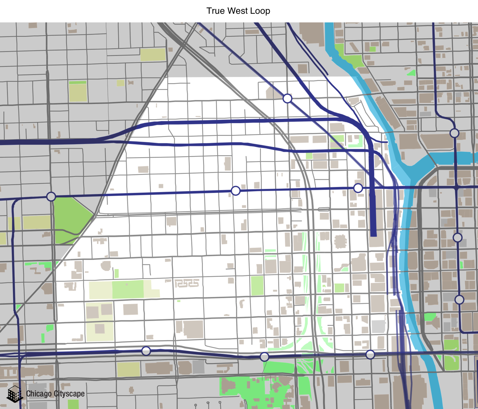 Map Of West Loop Chicago Map of building projects, properties, and businesses in the True