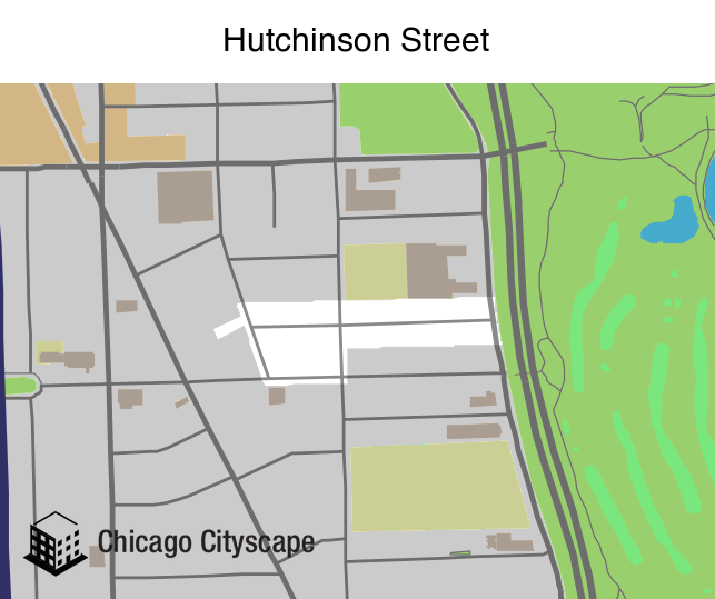 Map of building projects properties and businesses in Hutchinson