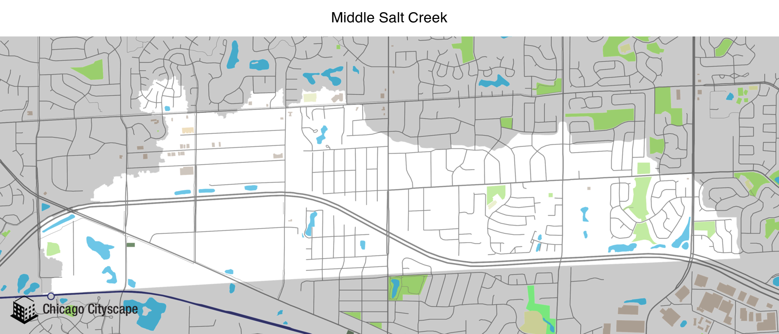 Map of Middle Salt Creek designed by Chicago Cityscape