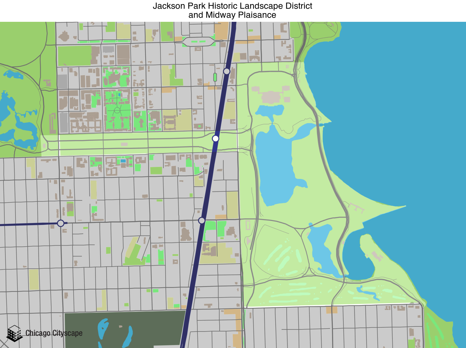 Jackson Park Chicago Map Chicago Cityscape   Map of building projects, properties, and
