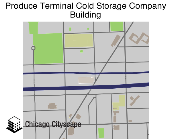 Map of Produce Terminal Cold Storage Company Building designed by Chicago Cityscape  sc 1 st  Chicago Cityscape & National Register - Map of building projects properties and ...