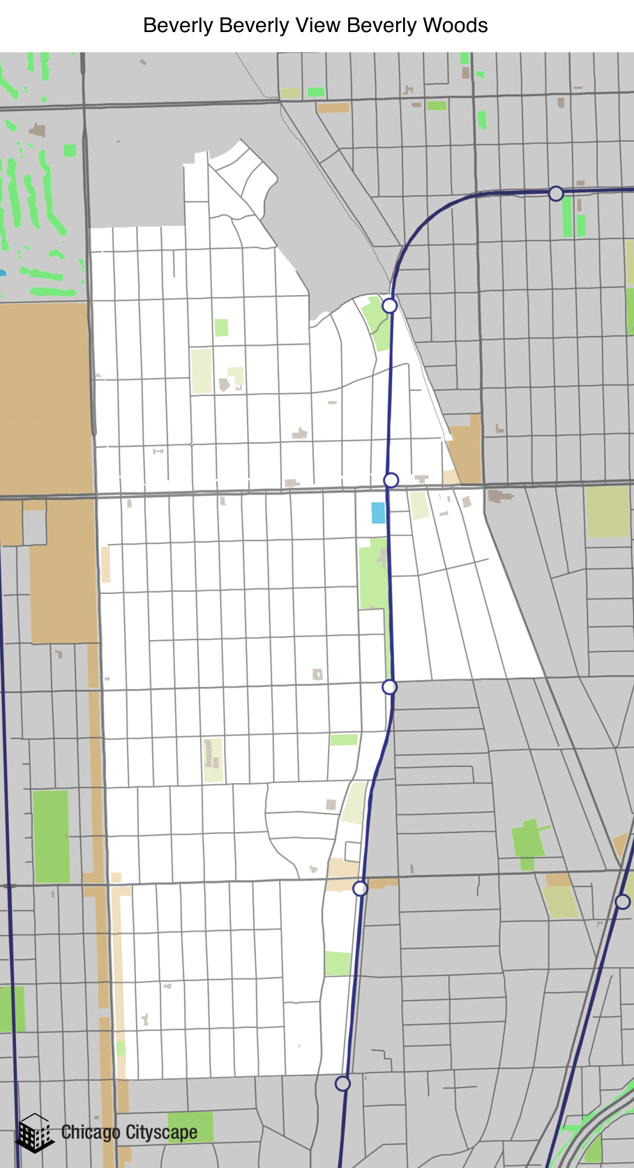 Chicago Cityscape   Map of building projects, properties, and
