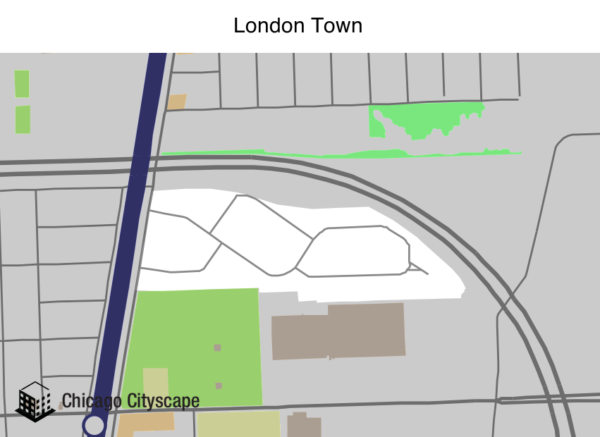 Neighborhood Map London.Chicago Cityscape Map Of Building Projects Properties And