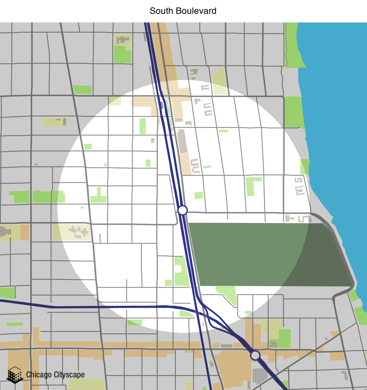 Evanston Subway Map.Chicago Cityscape Map Of Building Projects Properties And