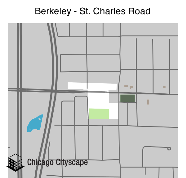 Map of Berkeley - St. Charles Road designed by Chicago Cityscape
