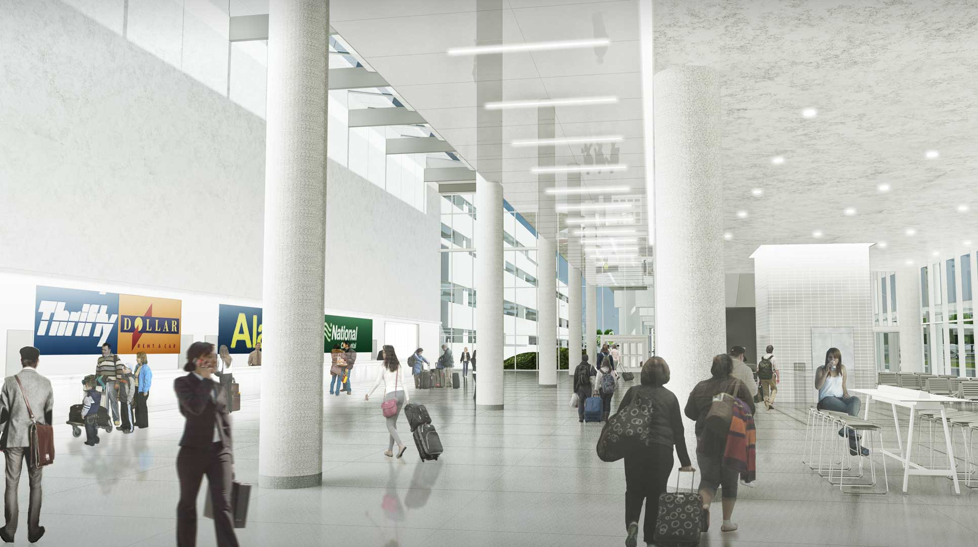 Image By Ross Barney Architects A Consolidated Car Rental Facility